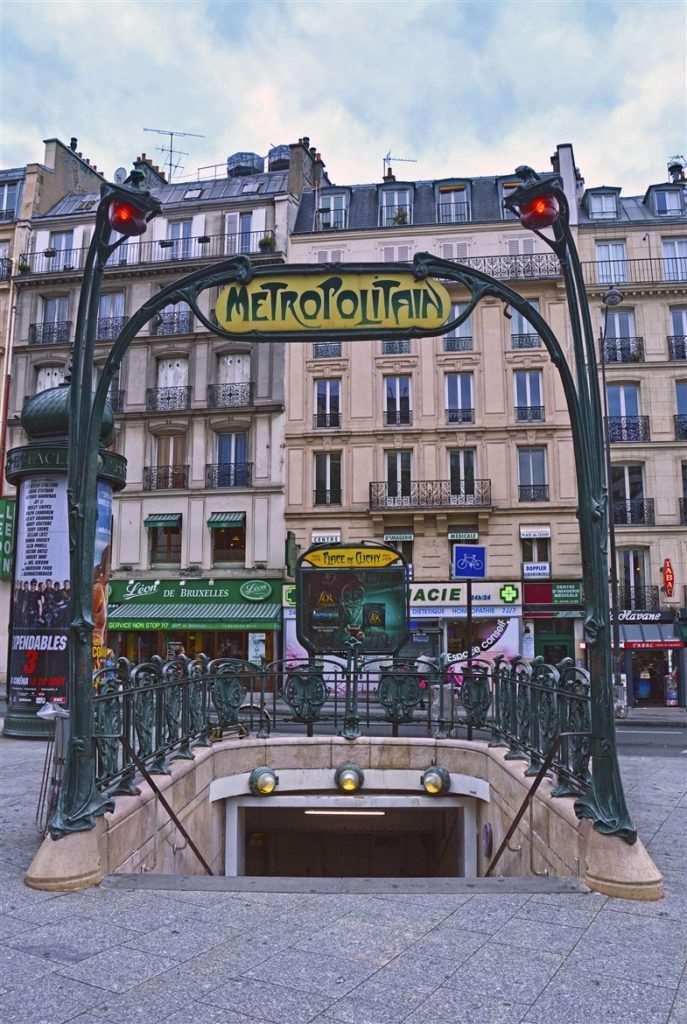 Paris Metro Girişi